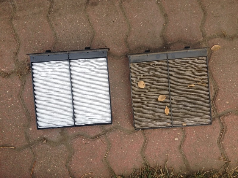 Clean vs Dirty Cabin Air Filter