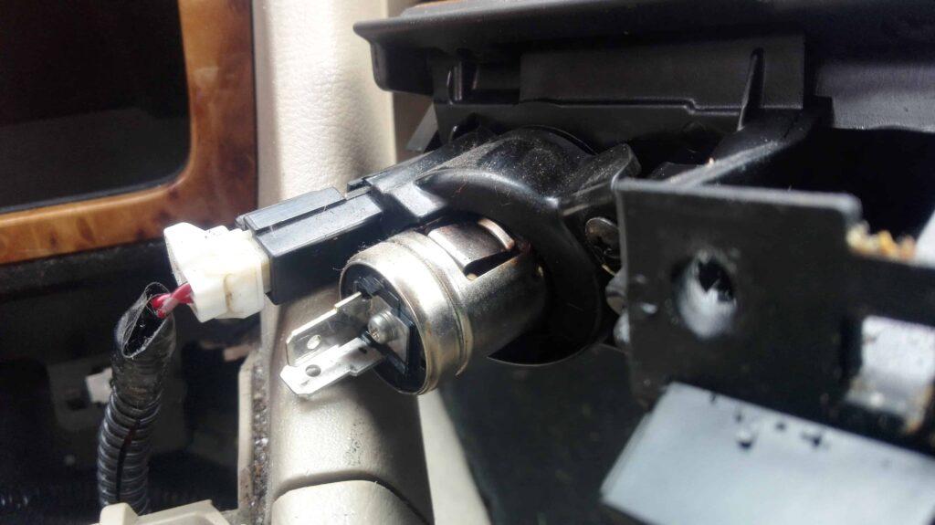 A disconnected 12V socket