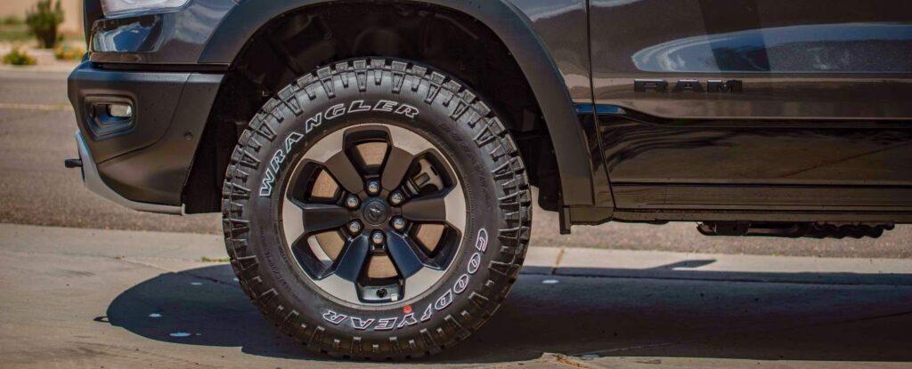 All terrain tires on a Dodge RAM