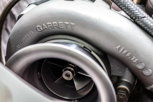 Cold (intake) side of a Garrett turbocharger