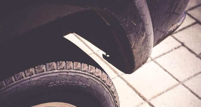 Fender Flares Covering A Rusty Fender